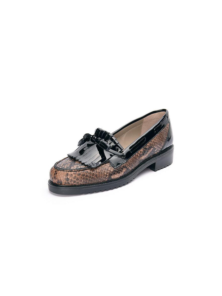 peter hahn exquisit slipper braun schwarz. Black Bedroom Furniture Sets. Home Design Ideas