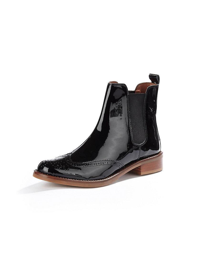 peter hahn hochwertiger chelsea boot in kalbslackleder schwarz. Black Bedroom Furniture Sets. Home Design Ideas