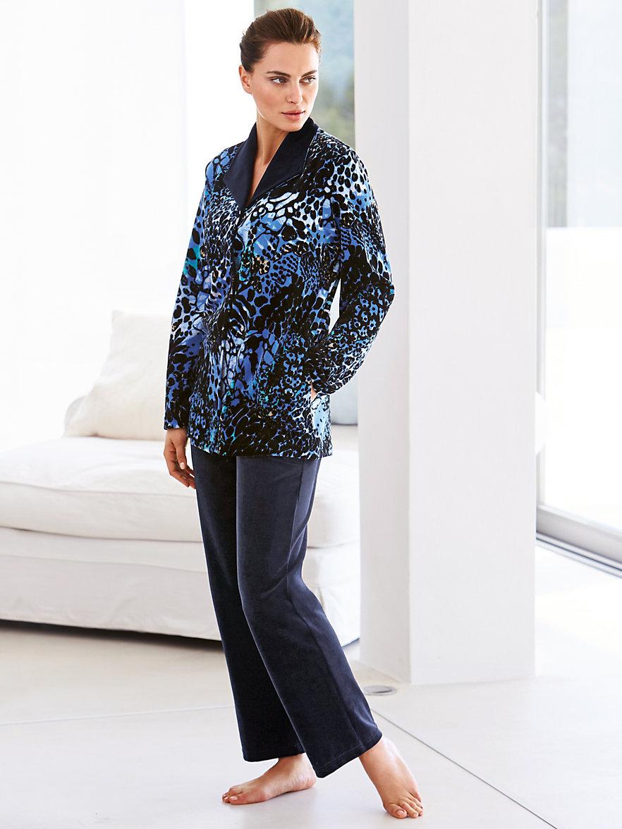 peter hahn nicki anzug blau marine. Black Bedroom Furniture Sets. Home Design Ideas