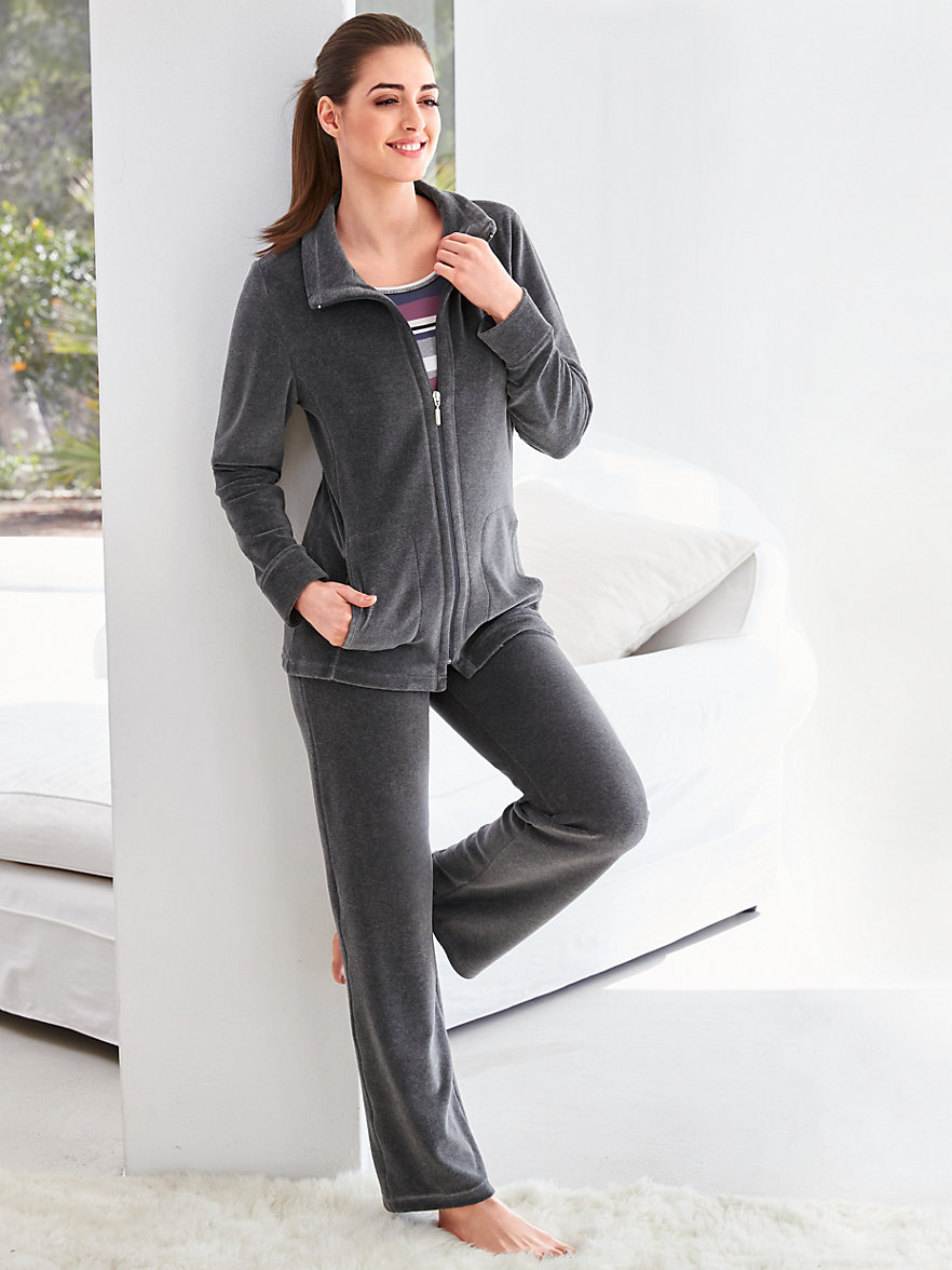 peter hahn nicki anzug grau melange. Black Bedroom Furniture Sets. Home Design Ideas
