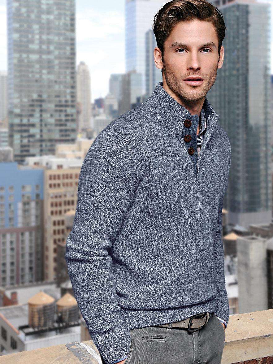 peter hahn pullover mit stehbundkragen taubenblau grau. Black Bedroom Furniture Sets. Home Design Ideas