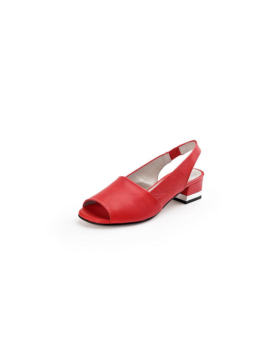 peter hahn sandale aus softem nappaleder rot. Black Bedroom Furniture Sets. Home Design Ideas