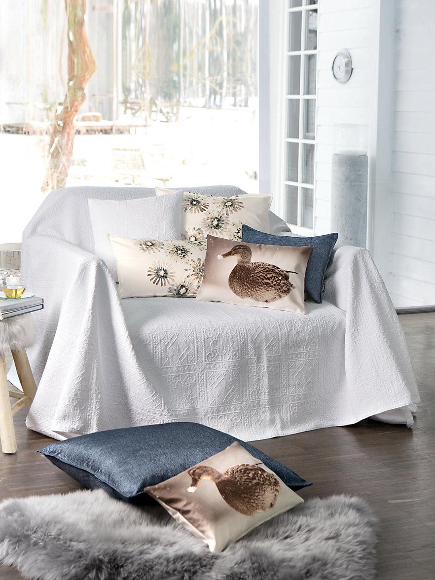 peter hahn berwurf f r couch und bett ca 160x270cm wei. Black Bedroom Furniture Sets. Home Design Ideas