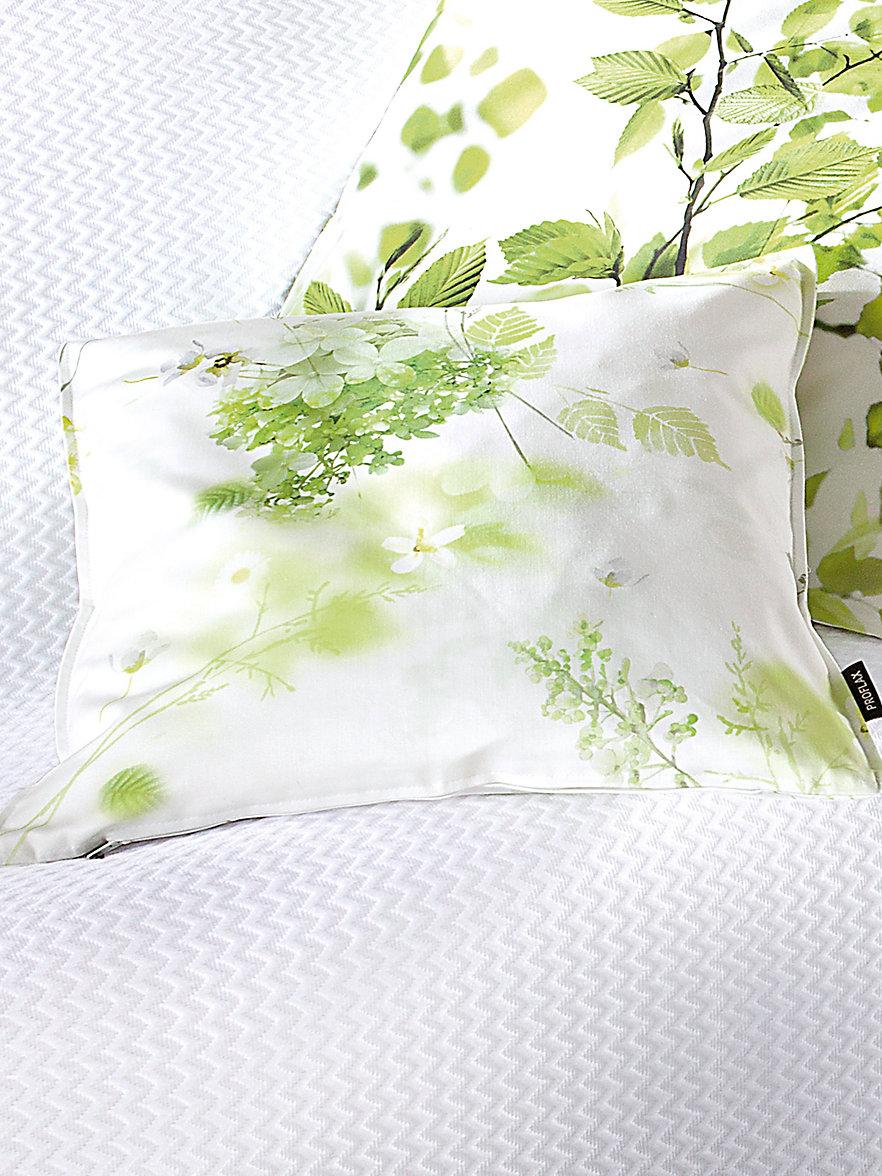 proflax kissenbezug ca 40x40cm ecru gr n. Black Bedroom Furniture Sets. Home Design Ideas