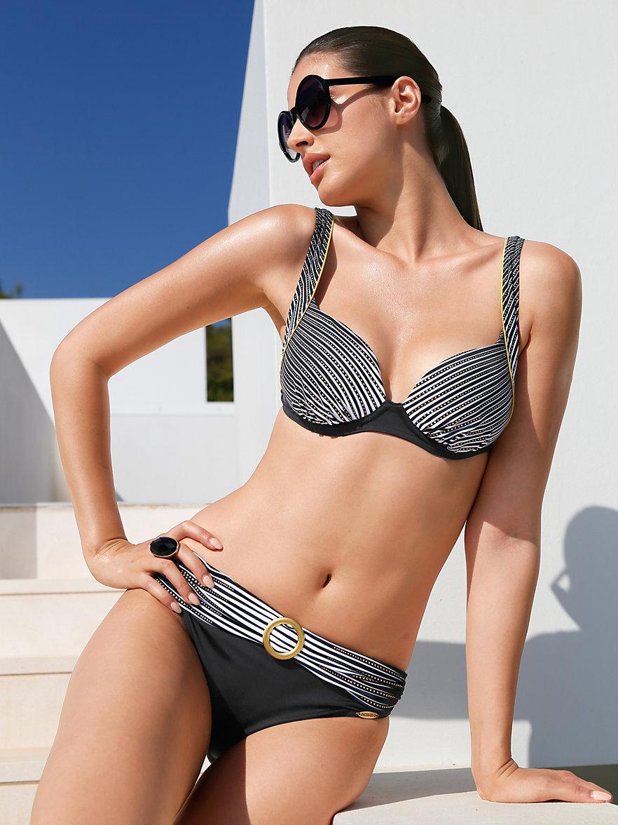 sunflair bikini xtra life beauty schwarz wei gold. Black Bedroom Furniture Sets. Home Design Ideas