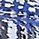 Eisblau/Multicolor