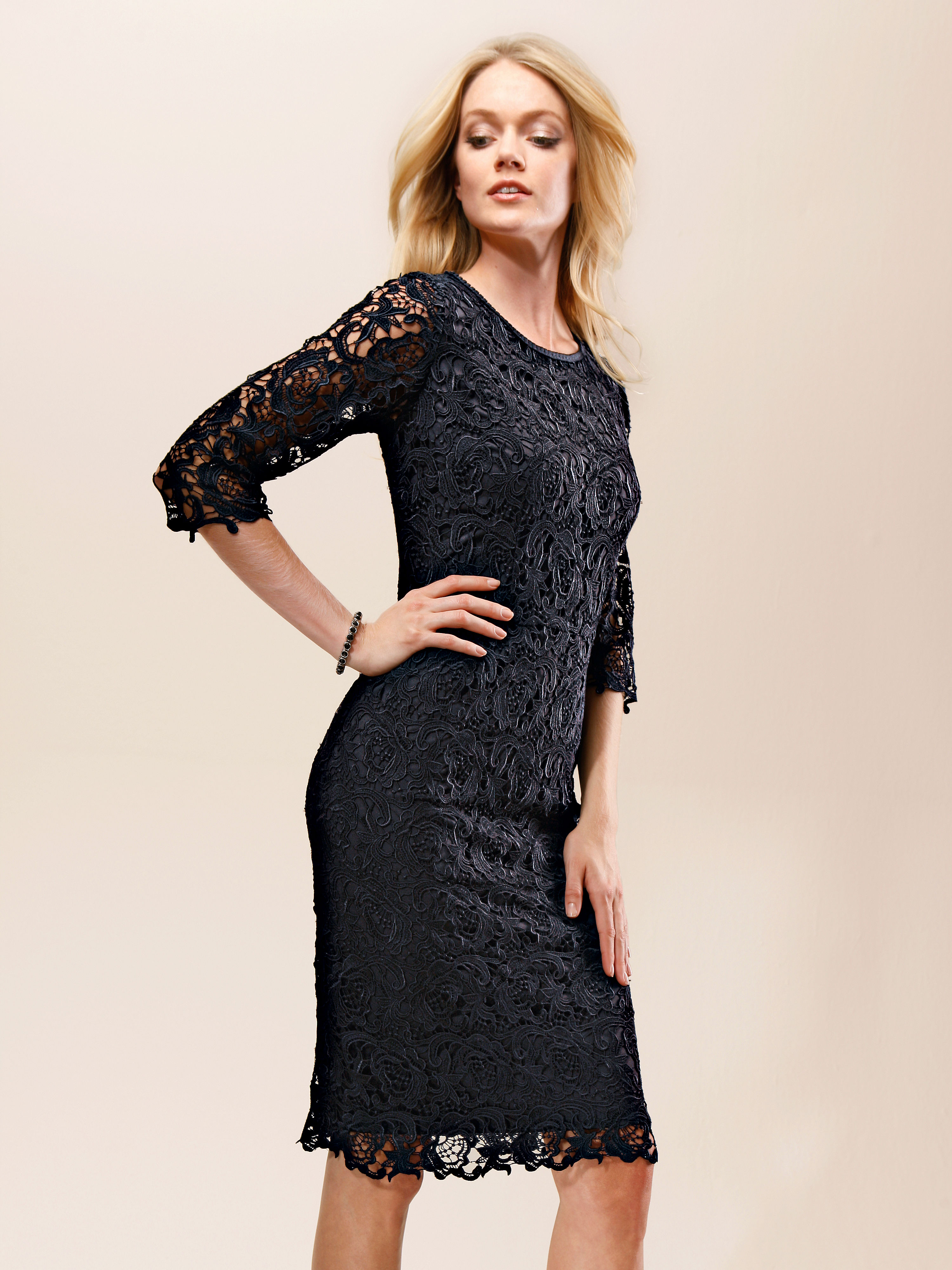 Lace dress 3/4-length sleeves Uta Raasch black Uta Raasch JR2KJ87v