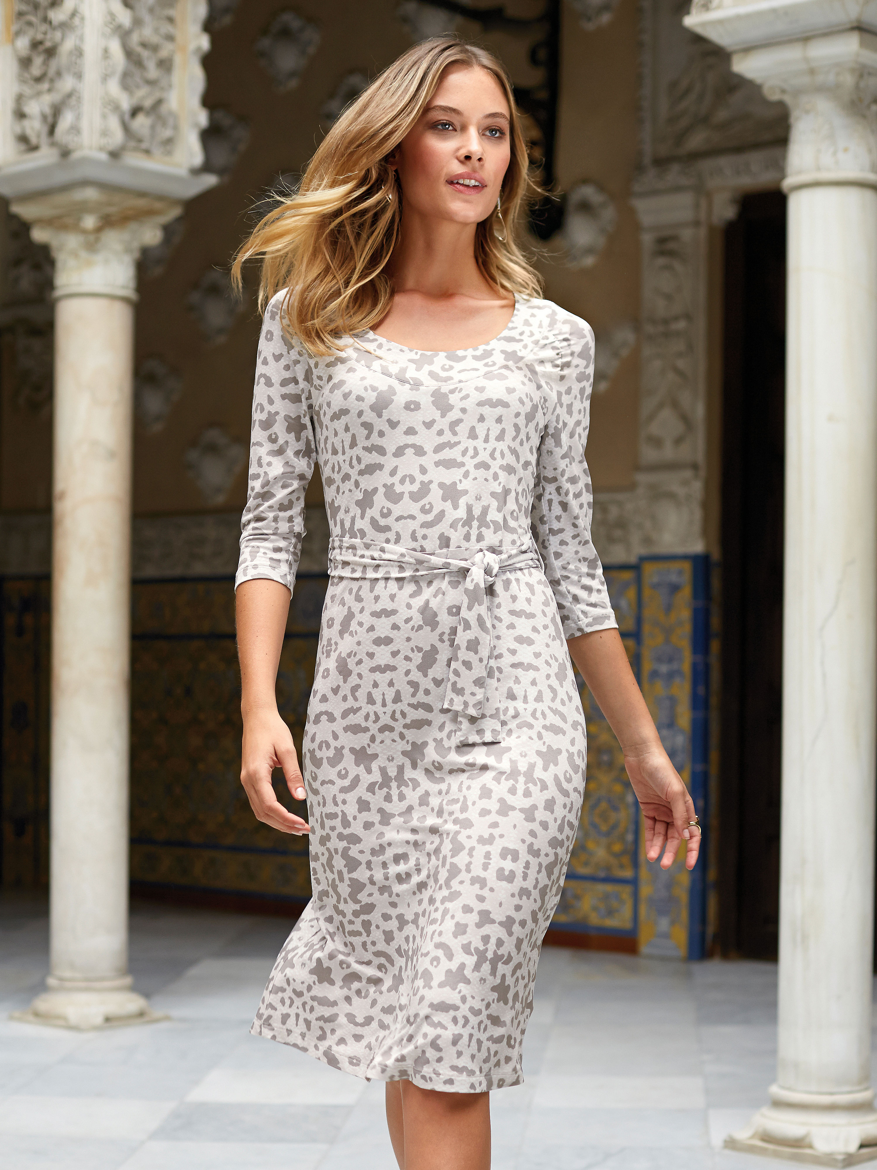 b2e051f2a17 Jersey dress with 3 4-length sleeves Uta Raasch vanilla size  20