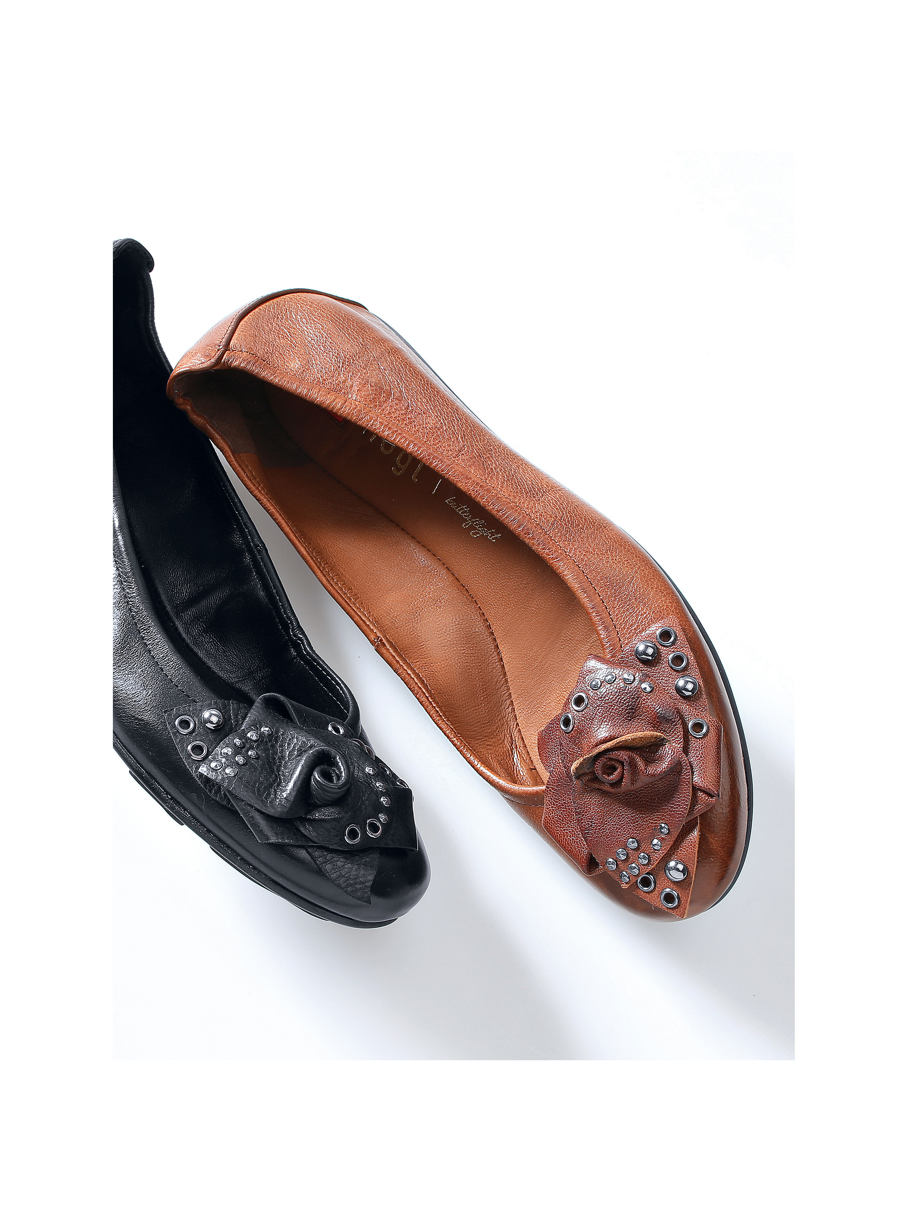 Ballerinas from the Butterflight collection Högl brown