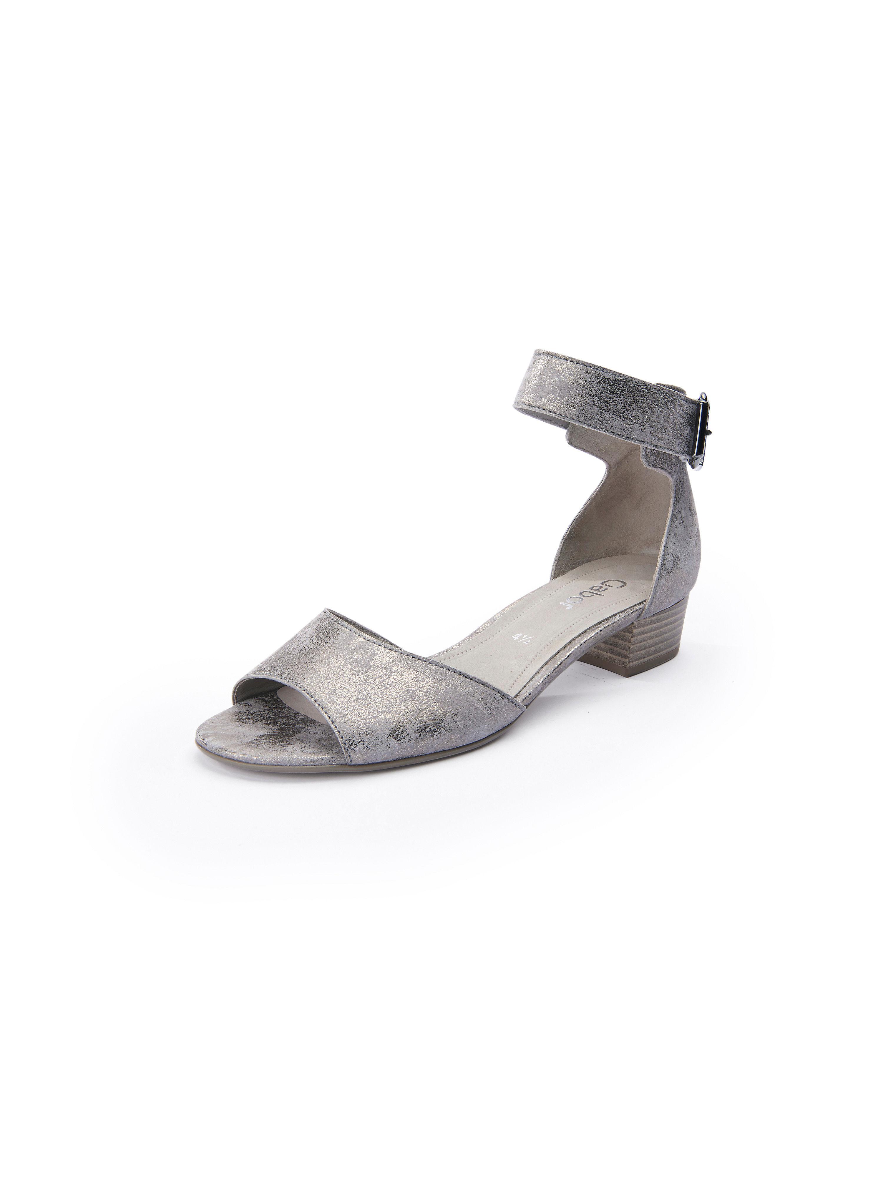Sandale Metallic-Effekt Gabor beige Größe: 35