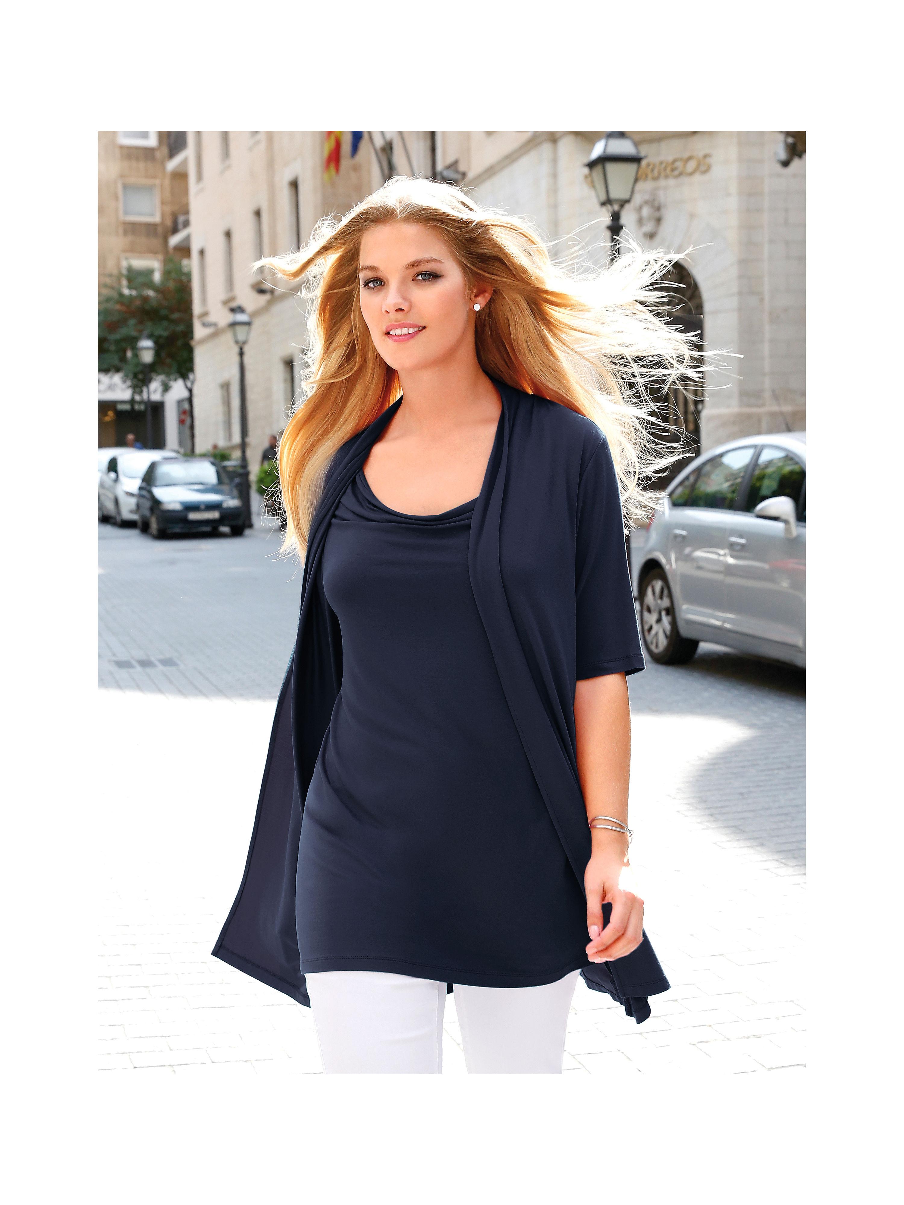 two in one shirt anna aura blau g nstig schnell einkaufen. Black Bedroom Furniture Sets. Home Design Ideas