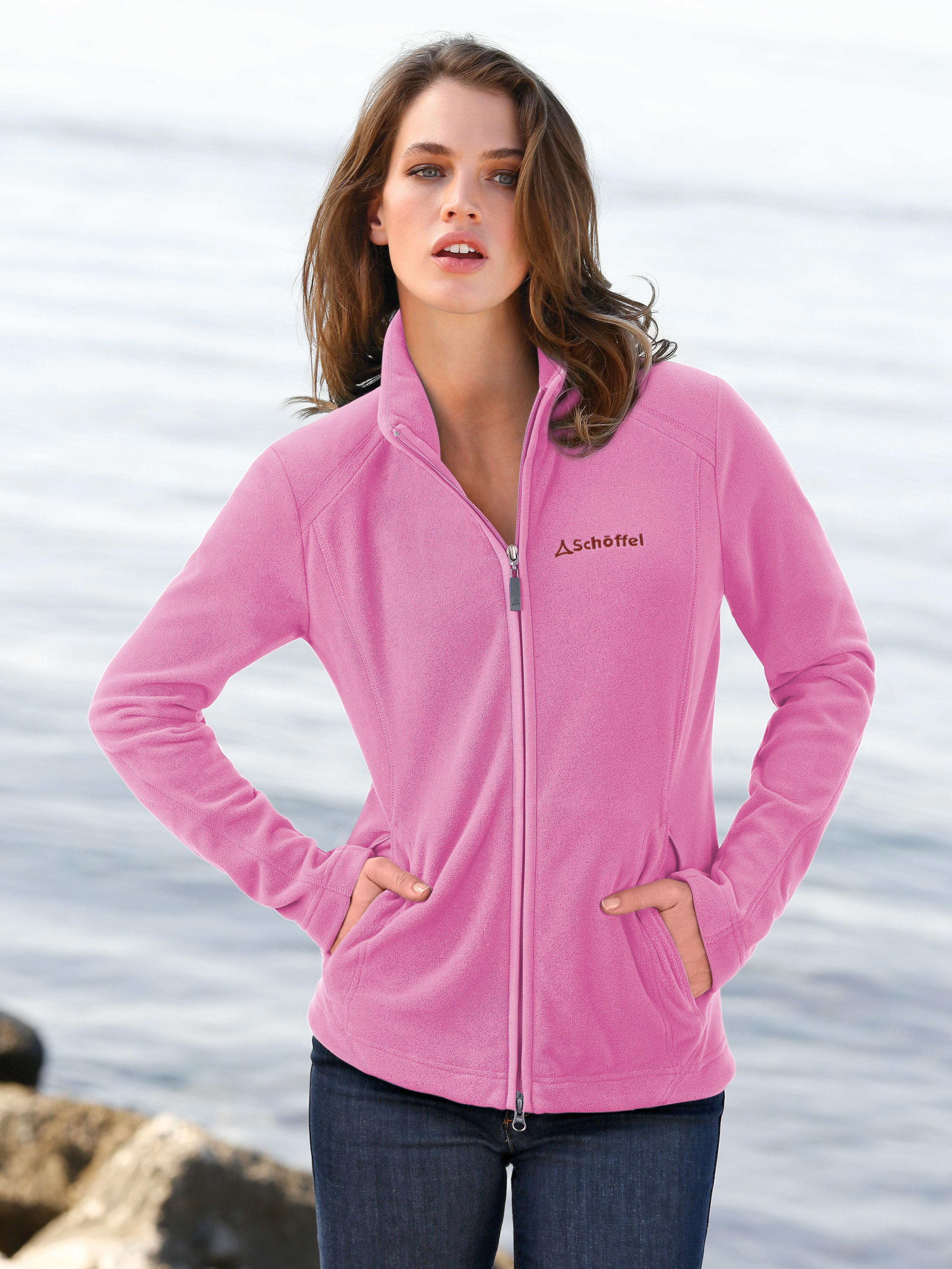 Fleece-Jacke - Modell LEONA Schöffel rosé Größe: 46 von Peter Hahn - DE in black - Schwarz für 69,95€