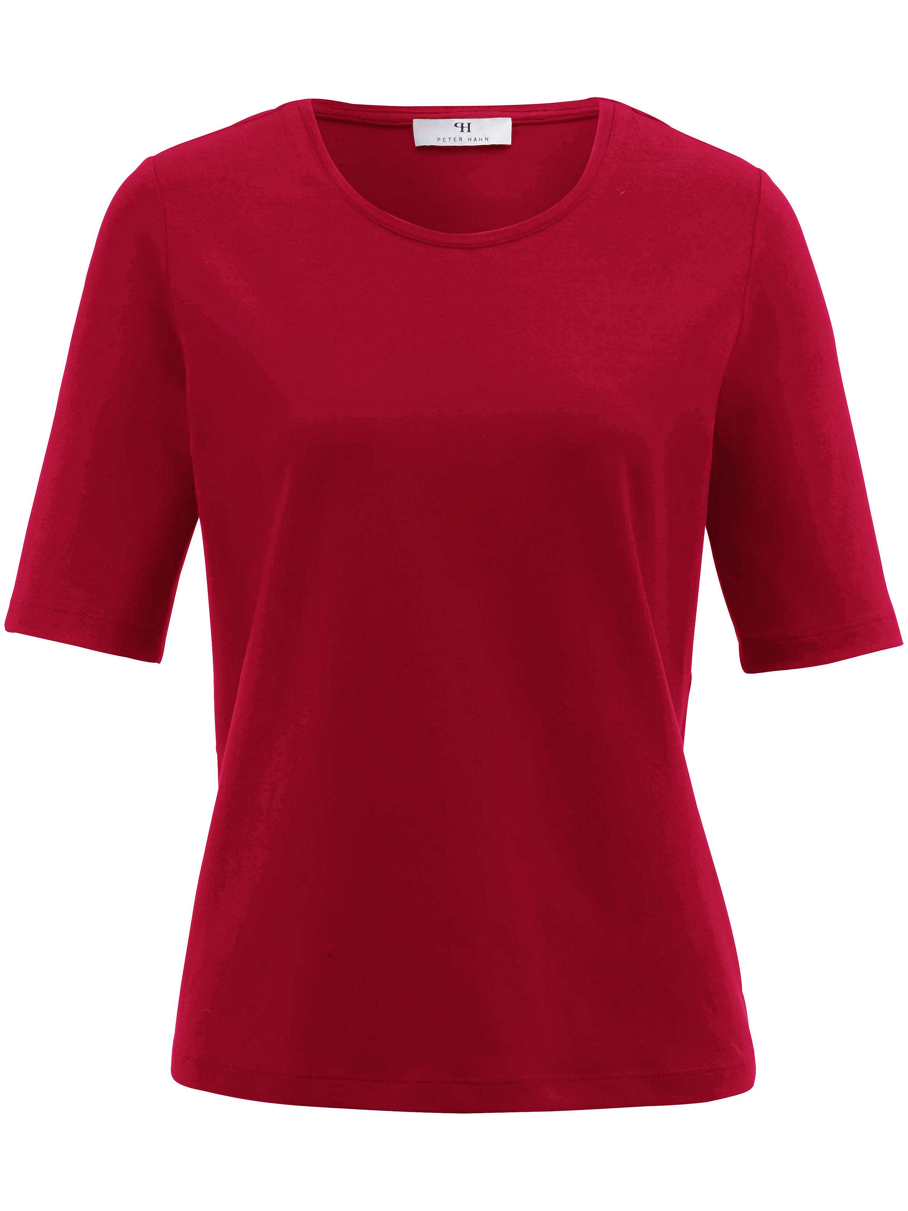 Artikel klicken und genauer betrachten! - Rundhals-Shirt von Peter Hahn mit 1/2-Arm. Das unentbehrliche Basic-Shirt in besonders hochwertigem, hautsympathischem Jersey in 95% Baumwolle, 5% Elasthan. Länge ca. 60cm. Dieses Rundhals-Shirt ist maschinenwaschbar. Normalwaschgang 30°. Chlorbleiche nicht möglich. Nicht heiß Bügeln. Reinigung P. Trocknen im Tumbler nicht möglich. Farbe: Rot. Erhältlich in den Größen: 36,38,40,42,44,46,48. Hochwertige Qualitätsmode für Damen ab 50 Jahren. | im Online Shop kaufen