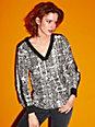 Looxent - Blusen-Shirt mit V-Ausschnitt