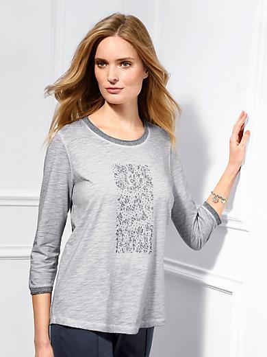 Basler - Shirt mit glitzernder Rippenblende und Nieten