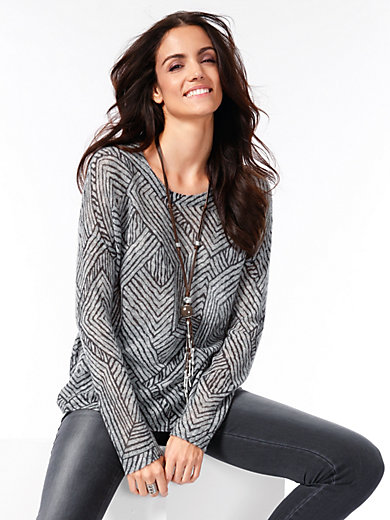 Brax Feel Good - Rundhals-Pullover in Over­sized-Form