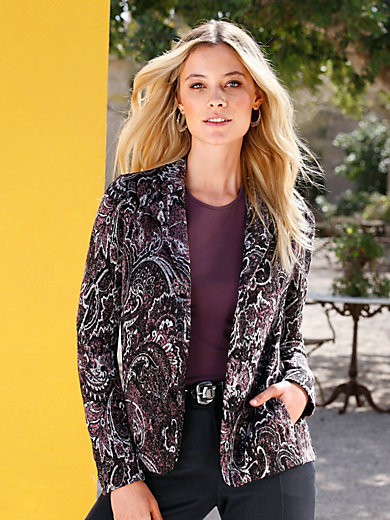 Erica Rössler Selection - Jersey-Blazer mit Wiener Nähten und Taschen