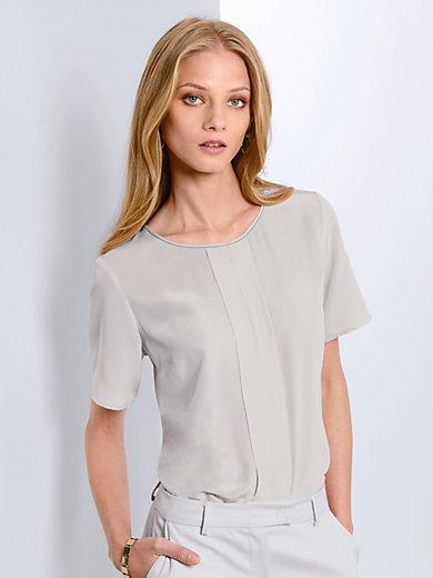 Fadenmeister Berlin - Blusen-Shirt aus 100% Seide und mit Perlenband