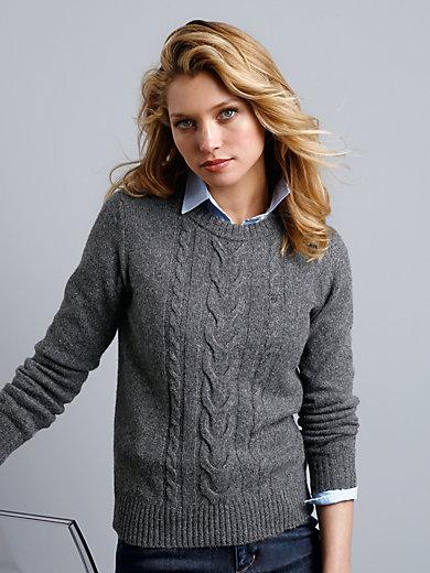 GANT - Pullover in Tweed-Optik und vorne mit Zopfmuster