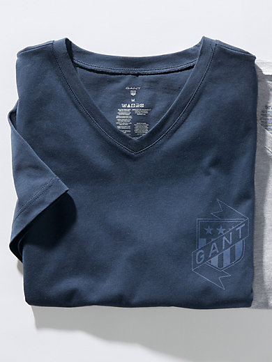 GANT - Schlaf-Shirt mit 1/2-Arm und V-Ausschnitt