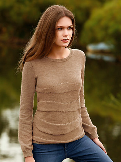 Inkadoro - Rundhals-Pullover in legerer Form