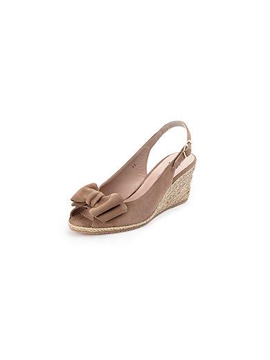 Ledoni - Sandale aus Ziegenveloursleder