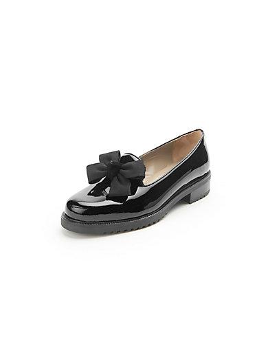 ledoni slipper mit schleife schwarz