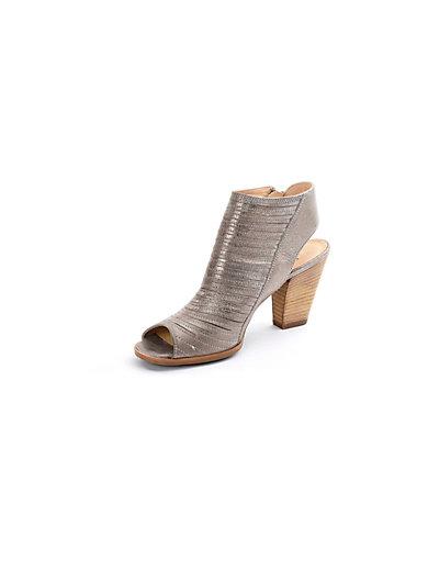 Paul Green - Knöchelhohe Sandalette aus Ziegenveloursleder