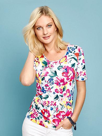 Peter Hahn - Shirt mit 1/2 Arm und Floral-Impressionen