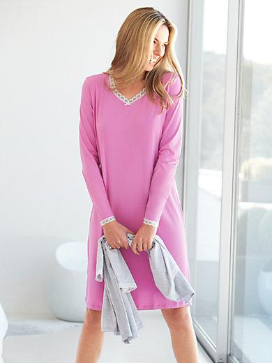 Peter Hahn - Sleep-Shirt aus 100% Baumwolle mit  V-Ausschnitt