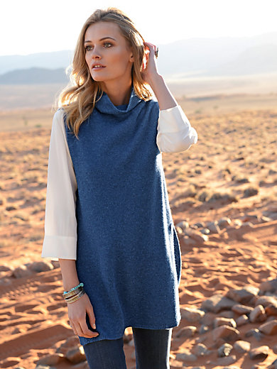 the lovely brand - Stehkragen Pullover ohne Arm aus 100% Kaschmir