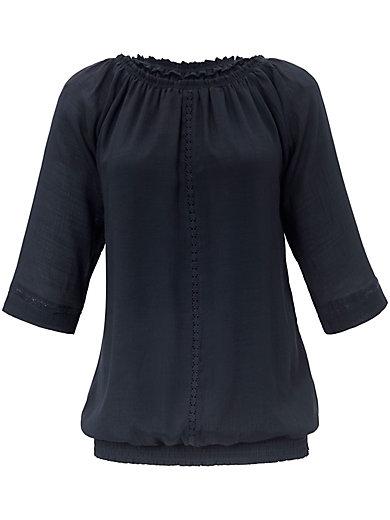 zizzi - Bluse zum Schlupfen mit Lochstickerei