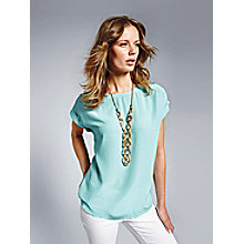 Looxent Blusen-Shirt zum Schlupfen in 100% Seide, Mint female